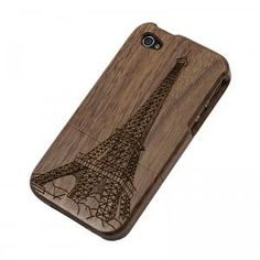 Cheap Vintage Bamboo iPhone 4\ 4s Case - The Eiffel Tower