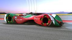Racing Car Concept LMP Electric REVOLT on track on Behance