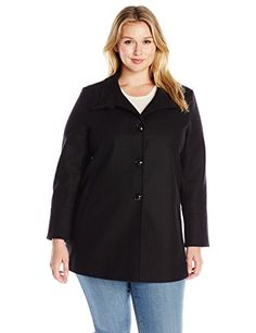 Larry Levine Womens Plus Size Sb Short Wool Black 2X >>> Check out the image by visiting the link.