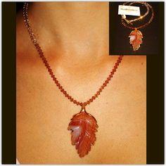 #booboosheek #handmade #swarovski #crystals #necklace #tonal #fashion #accessories #jewelry #pendant #naturalstone #leaf #jade #golddipped #rim #quality #present #statement #BBS