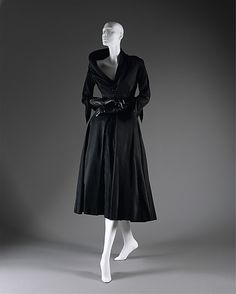 """Abandon,"" Christian Dior (French, 1905–1957) of the House of Dior  (French, founded 1947): fall/winter 1948-49, French, silk/cotton. Marking: [label] ""Christian Dior/Paris""    Designer:"