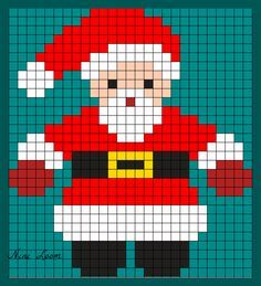 Cross Stitch Christmas Ornaments, Xmas Cross Stitch, Cross Stitching, Pixel Art Noel, Cool Pixel Art, Cross Stitch Designs, Cross Stitch Patterns, Crochet Pixel, Chicken Scratch Embroidery