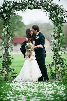 love the wedding archway