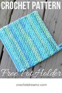"""""""This simple and easy potholder crochet pattern is perfect for beginners. Make this double layered pot holder for your kitchen following this free tutorial. #crochetpotholders, #crochetpotholderpattern, #crochethotpad, #crochetpotholdereasy, #crochet, #freecrochetpattern """""""