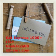 geekjava88: add Express 1000  Human Facebook Likes With in 24 Hours for $5, on fiverr.com