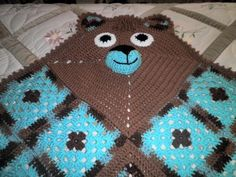 Looking for crocheting project inspiration? Check out Baby Boy Bear Blanket by member Lynn Wolfe. - via @Craftsy