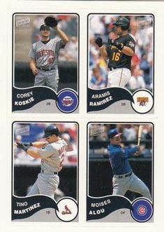 2003 Bazooka - 4-on-1 Stickers #37 Aramis Ramirez / Corey Koskie / Tino Martinez / Moises Alou Front