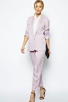 ASOS Blazer In Luxe Fabric, $103.50, available at ASOS; ASOS Slim Pants In Luxe Fabric, $75.28, available at ASOS.