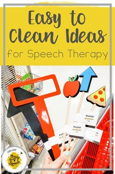 Doing in-person learning this year in speech therapy? Here are some favorite easy to clean tips and ideas for your speech therapy sessions.