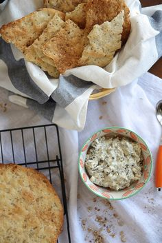 Seeded Flatbread Crackers--Crispy, homemade flatbread crackers studded with a blend of seeds and grains. Perfect for dipping!