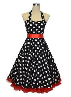 Luv Ruby Women's Rockabilly with Ribbon Bow and Petticoat Dress  Buy Now: $49.99