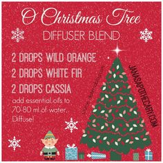 O Christmas Tree Diffuser Blend (Young Living Essential Oils) Essential Oil Diffuser Blends, Essential Oil Uses, Natural Essential Oils, Young Living Essential Oils, Doterra Diffuser, Healing Oils, Aromatherapy Oils, Doterra Essential Oils, Back To Nature