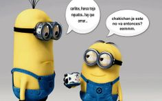 Minions talking in Spanish. You just have to love them.
