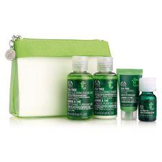 The Bodyshop - TEA TREE SKIN CARE KIT (Facial Wash 60ml, Toner 60ml, Lotion 15ml, Tea Tree Oil 10ml, Re-usable green mesh bag) Online RM79