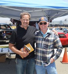 Book signing during car show in Hollister.,