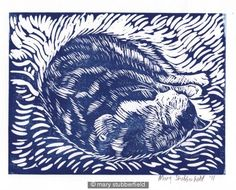 lino prints blue - Google Search