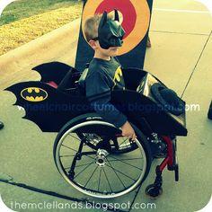 Wheelchair Costumes: Batmobile Wheelchair Costume *pinned by WonderBaby.org