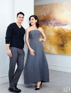 Painting - gold and grey   Vicente Wolf Assoc. decorated the New York apartment of actress Julianna Margulies and her husband,