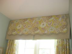 Cute window treatment designed and sewn by Lisa Hood at First Fruit Collection in Collierville, TN