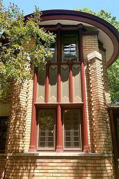 George Furbeck House. Frank Lloyd Wright. 1897. Oak Park, Illinois. Early Wright.