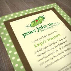 PEA POD Baby Shower Printable Invitation