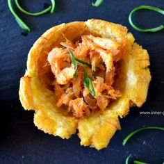 Holiday Appetizer: Fried Plantain Cups + Saltfish Filling - You know that feeling of eating too much of a good appetizer and having no room for dinner. Holiday Appetizers, Best Appetizers, Brown Stew Chicken, Stewed Chicken, Bake And Saltfish, Coconut Buns, Fried Plantain, Fries, Trinidadian Recipes