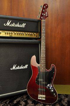 Fender Japan Aerodyne Jazz Bass AJB Cool Old Candy Apple Red finish