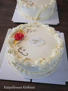 Kääpiölinnan köökissä: Kevään kakkukavalkadi Cream Cake, Amazing Cakes, Cake Decorating, Wedding Cakes, Sweets, Baking, Cake Ideas, Desserts, Food