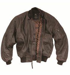 Alpha Industries Leather MA-1 Flight Jacket