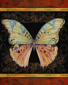 Plout Painting - Butterfly Treasure-sofia by Jean PLout