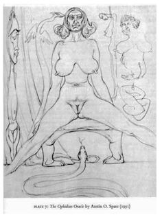 """The Ophidian Oracle, by Austin Osman Spare, from the book """"Grant Kenneth - Aleister Crowley and the Hidden God"""""""