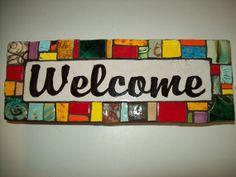 Handmade Ceramic House Number Address Tile by CustomTilesByRich, $78.00