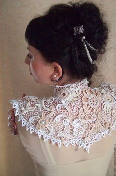 Late Victorian Early Edwardian Downton Abbey High Collar ...