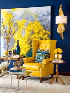 Yellow Decor Gavin Leather Chair In Echo Marigold Leather In A Design By  Shay Geyer Of IBB Design, TX Part 94