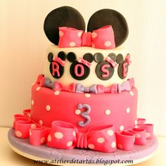 Tarta Fondant Cumpleaños Minnie