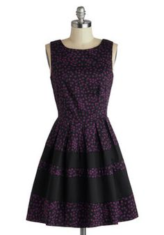 A Dreamboat Come True Dress in Purple Dots,  an early b-day present to me!