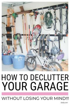 Learn how to declutter your garage easily without losing your mind with these simple declutter tips. #garage #declutter #decluttertips #organizegarage Bin Bag, Konmari Method, Lose Your Mind, Fun Cup, Diy Supplies, Garage Organization, Organizing Your Home, Diy Painting, Declutter