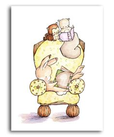 The Yellow Reading Chair Print   zulily