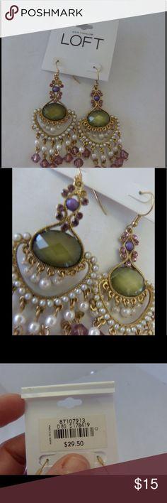 """NWT Ann Taylor LOFT Chandelier Earrings Beautiful earrings.  3"""" length. LOFT Jewelry Earrings"""