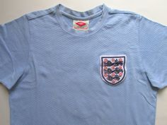 England 1970 away retro replica football shirt by Umbro England Kit, Manchester United Soccer, National Football Teams, Light Blue Shirts, Goalkeeper, Sport Casual, Football Shirts, Retro, Classic