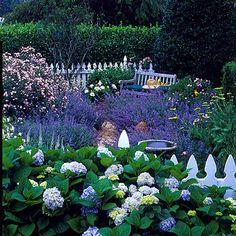 Purple garden | Dering Hall Landscape Garden
