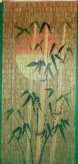 'Setting Sun' Bamboo Silhouette Curtain