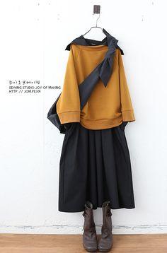 Muslim Fashion, Modest Fashion, Hijab Fashion, Korean Fashion, Fashion Outfits, Japan Fashion, Look Fashion, Oska Clothing, Look Retro
