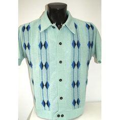 Mint Honeycomb Knitted Shirt