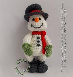 INSTANT DOWNLOAD : Handful of Snowman por FiberDoodlesbyK4TT