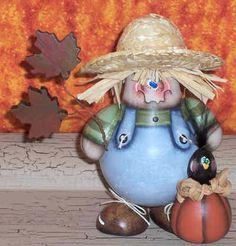 COBB epattern pdf scarecrow recycled light bulb fall halloween pumpkin maple leaf crow prim chick acrylic painting paTTern 705