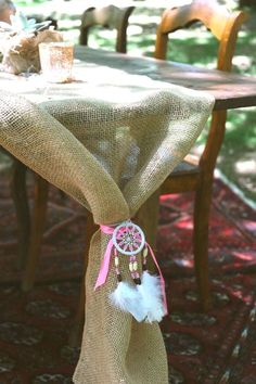 Burlap runner synched with a dreamcatcher from a Coachella Inspired Boho Birthday Party on Karas Party Ideas Coachella Party Theme, Coachella Birthday, Girl First Birthday, First Birthday Parties, 30th Party, 16th Birthday, Birthday Cakes, Birthday Ideas, Pocahontas Birthday Party