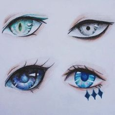 """More eyes 3 are inspired by @minmonsta ones in my own style can u guess who…"