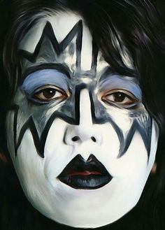 Great painting of Ace Frehley, Stage-Ace, from KISS!