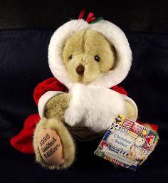 Alice Cherished Teddies 25215 Dakin Plush Bear 1995 LE 2151 of 10000 Christmas #vintageDakin #AlicefromCherishedTeddies